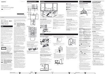 Sony CMT-CX5iP - CMT-CX5IP Istruzioni per l'uso Portoghese
