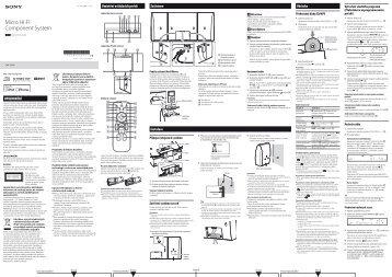 Sony CMT-CX5iP - CMT-CX5IP Istruzioni per l'uso Ceco