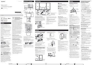 Sony CMT-CX5iP - CMT-CX5IP Istruzioni per l'uso Danese