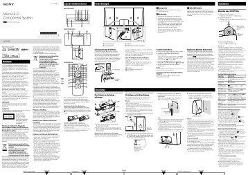 Sony CMT-CX5BiP - CMT-CX5BIP Istruzioni per l'uso Tedesco