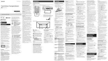 Sony CMT-X5CD - CMT-X5CD Istruzioni per l'uso Ungherese