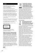 Sony CMT-SBT40D - CMT-SBT40D Istruzioni per l'uso Turco - Page 2