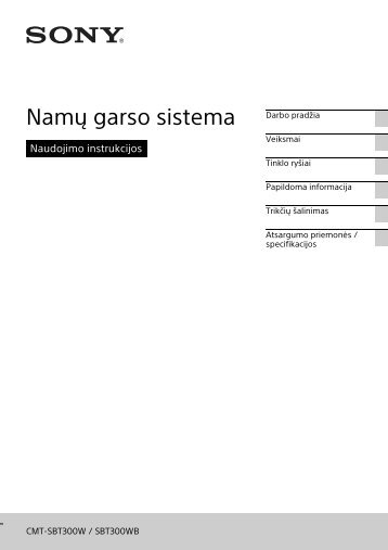 Sony CMT-SBT300WB - CMT-SBT300WB Istruzioni per l'uso Lituano