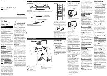 Sony CMT-V11iP - CMT-V11IP Istruzioni per l'uso Italiano