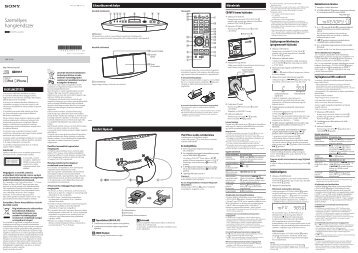 Sony CMT-V11iP - CMT-V11IP Istruzioni per l'uso Ungherese