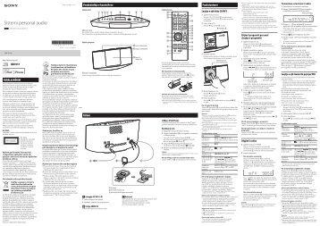 Sony CMT-V11iP - CMT-V11IP Istruzioni per l'uso Albanese