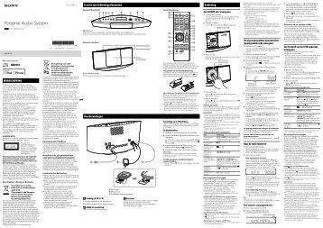 Sony CMT-V11iP - CMT-V11IP Istruzioni per l'uso Olandese