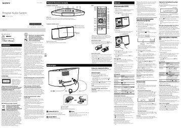Sony CMT-V11iP - CMT-V11IP Istruzioni per l'uso Polacco