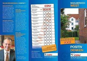wahlbereich west - CDU Wilhelmshaven