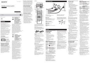 Sony CMT-S20 - CMT-S20 Istruzioni per l'uso Slovacco