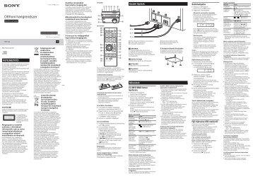 Sony CMT-S20 - CMT-S20 Istruzioni per l'uso Ungherese
