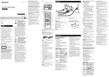 Sony CMT-S20 - CMT-S20 Istruzioni per l'uso Estone