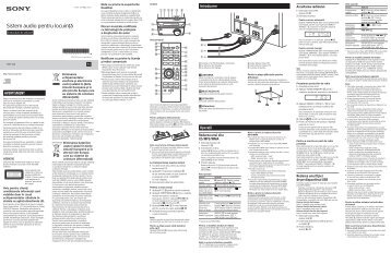 Sony CMT-S20 - CMT-S20 Istruzioni per l'uso Rumeno