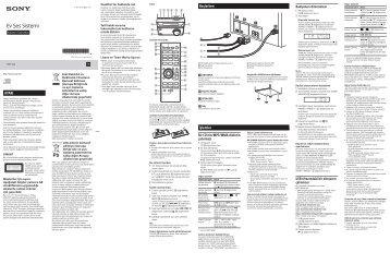 Sony CMT-S20 - CMT-S20 Istruzioni per l'uso Turco