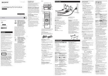 Sony CMT-S20B - CMT-S20B Istruzioni per l'uso Svedese