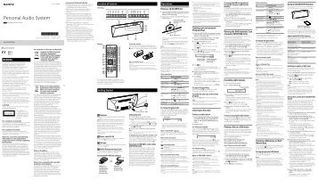 Sony CMT-BT60 - CMT-BT60 Istruzioni per l'uso Inglese