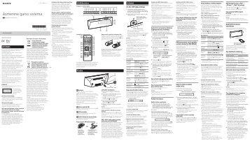 Sony CMT-BT60 - CMT-BT60 Istruzioni per l'uso Lituano