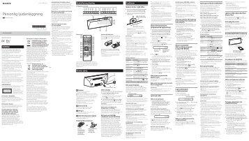 Sony CMT-BT60 - CMT-BT60 Istruzioni per l'uso Svedese