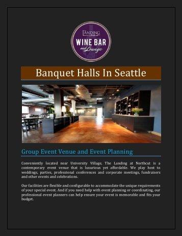 Banquet Halls In Seattle
