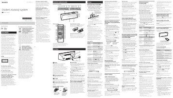 Sony CMT-BT60B - CMT-BT60B Istruzioni per l'uso Ceco