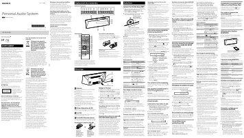 Sony CMT-BT60B - CMT-BT60B Istruzioni per l'uso Francese