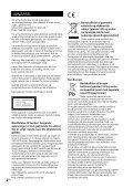 Sony CMT-X3CD - CMT-X3CD Istruzioni per l'uso Danese - Page 2
