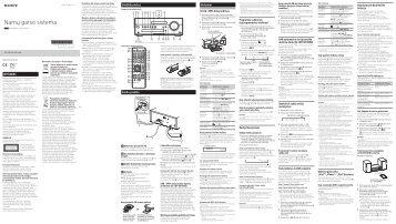 Sony CMT-SBT100B - CMT-SBT100B Istruzioni per l'uso Lituano