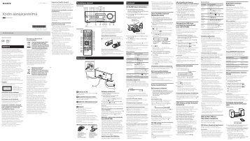 Sony CMT-SBT100B - CMT-SBT100B Istruzioni per l'uso Finlandese