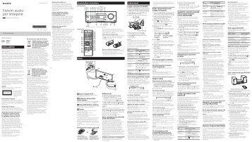 Sony CMT-SBT100B - CMT-SBT100B Istruzioni per l'uso Albanese