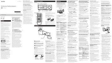 Sony CMT-SBT100B - CMT-SBT100B Istruzioni per l'uso Estone