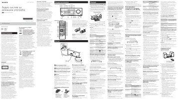 Sony CMT-SBT100B - CMT-SBT100B Istruzioni per l'uso Macedone
