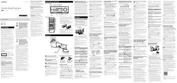 Sony CMT-SBT100B - CMT-SBT100B Istruzioni per l'uso Francese