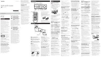 Sony CMT-SBT100 - CMT-SBT100 Istruzioni per l'uso Croato