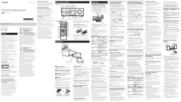 Sony CMT-SBT100 - CMT-SBT100 Istruzioni per l'uso Estone