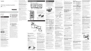 Sony CMT-SBT100 - CMT-SBT100 Istruzioni per l'uso Slovacco