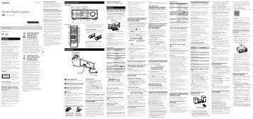 Sony CMT-SBT100 - CMT-SBT100 Istruzioni per l'uso Danese