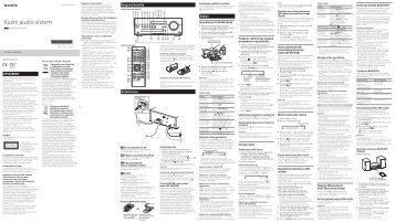 Sony CMT-SBT100 - CMT-SBT100 Istruzioni per l'uso Serbo