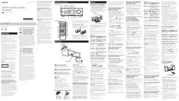 Sony CMT-SBT100 - CMT-SBT100 Istruzioni per l'uso Rumeno
