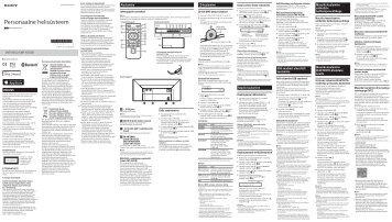 Sony CMT-X5CDB - CMT-X5CDB Istruzioni per l'uso Estone