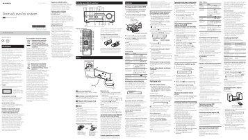 Sony CMT-SBT100 - CMT-SBT100 Istruzioni per l'uso Sloveno