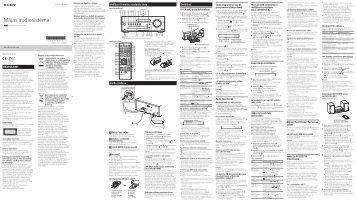 Sony CMT-SBT100 - CMT-SBT100 Istruzioni per l'uso Lettone