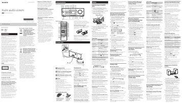 Sony CMT-SBT100 - CMT-SBT100 Istruzioni per l'uso Bosniaco