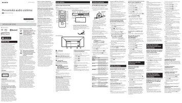 Sony CMT-X5CDB - CMT-X5CDB Istruzioni per l'uso Lettone