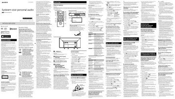 Sony CMT-X5CDB - CMT-X5CDB Istruzioni per l'uso Olandese