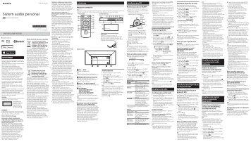Sony CMT-X5CDB - CMT-X5CDB Istruzioni per l'uso Rumeno
