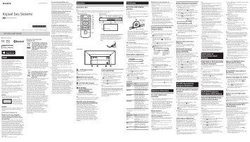 Sony CMT-X5CDB - CMT-X5CDB Istruzioni per l'uso Turco