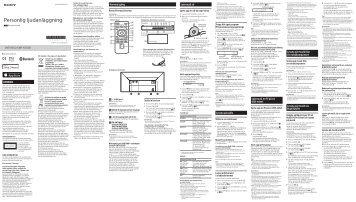 Sony CMT-X5CDB - CMT-X5CDB Istruzioni per l'uso Svedese