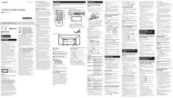 Sony CMT-X5CDB - CMT-X5CDB Istruzioni per l'uso Croato
