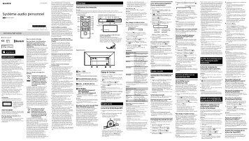 Sony CMT-X5CDB - CMT-X5CDB Istruzioni per l'uso Francese