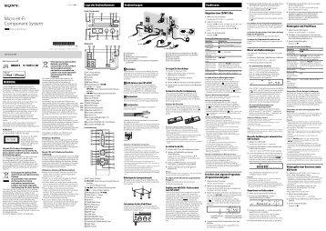 Sony CMT-G1iP - CMT-G1IP Istruzioni per l'uso Tedesco